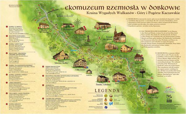 Mapa Ekomuzeum Rzemiosła