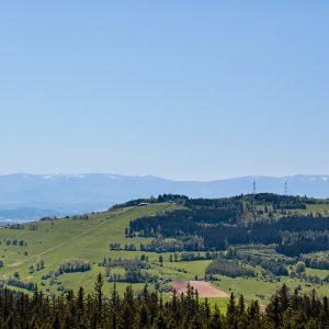Łysa Góra i przełęcz Widok
